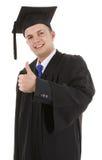 Les pouces reçoivent un diplôme vers le haut Photographie stock