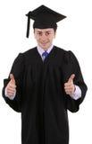 Les pouces reçoivent un diplôme vers le haut Image stock