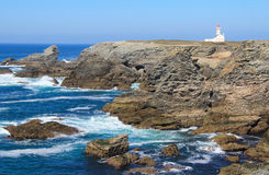 Les Poulains lighthouse Royalty Free Stock Images