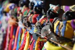 Poupées de Herero en vente, Damaraland, Namibie Photographie stock libre de droits