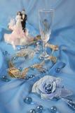 Les poupées de gâteau de mariage, se sont levées Photo stock