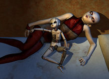 Les poupées hantées ne dorment jamais Photo stock