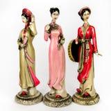 Les poupées ont fait le ‹d'†de ‹d'†à partir du chiffre femelle en céramique Photos stock