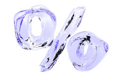 Les pour cent d'eau pure se connectent le fond blanc Images stock