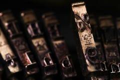 Les pour cent de machine à écrire de vintage marquent le caractère ou marquent avec des lettres le St de macro Images libres de droits