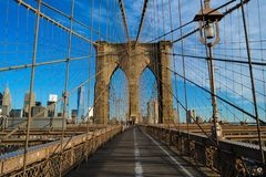 Les poutrelles du pont de Brooklyn Photos libres de droits