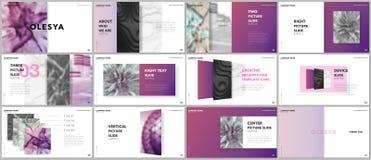 Les présentations minimales conçoivent, des calibres de vecteur de portfolio avec des éléments sur le fond blanc Calibre universe illustration stock