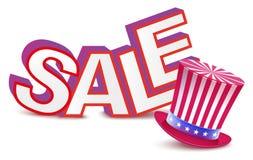 Les Présidents Day de vente Chapeau d'Oncles Sam Image libre de droits
