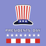 Les Présidents Day Icon Image stock