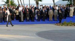 Les présidents des délégations posent pour la photographie officielle dans le 17ème sommet du mouvement non-aligné Photos libres de droits