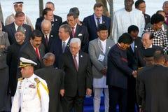 Les présidents des délégations posent pour la photographie officielle dans le 17ème sommet du mouvement non-aligné Image stock