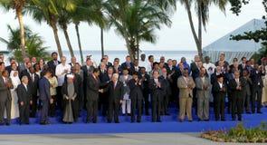 Les présidents des délégations posent pour la photographie officielle dans le 17ème sommet du mouvement non-aligné Images libres de droits