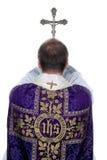 Les prêtres catholiques prient Photo libre de droits