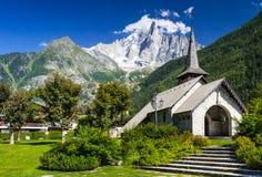 Les Praz de Chamonix-Mont-Blanc, Francia Immagine Stock