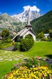 Les Praz de Chamonix-Mont-Blanc, Francia Fotografia Stock