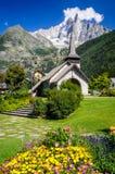Les Praz de Chamonix-Mont-Blanc, Francia Fotografia Stock Libera da Diritti