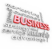 Les principes 3D de concepts d'affaires exprime le fond Images libres de droits
