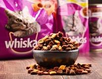 Les produits d'aliments pour chats de Whiskas de Mars ont incorporé Image libre de droits