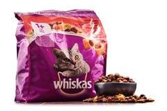 Les produits d'aliments pour chats de Whiskas de Mars ont incorporé Photographie stock libre de droits