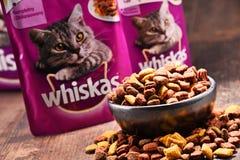 Les produits d'aliments pour chats de Whiskas de Mars ont incorporé Image stock