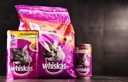 Les produits d'aliments pour chats de Whiskas de Mars ont incorporé Photo stock