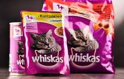 Les produits d'aliments pour chats de Whiskas de Mars ont incorporé Images stock