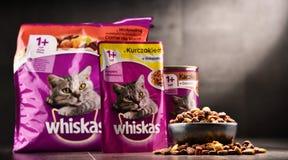 Les produits d'aliments pour chats de Whiskas de Mars ont incorporé Photos libres de droits
