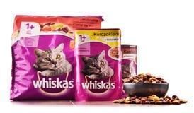 Les produits d'aliments pour chats de Whiskas de Mars ont incorporé Photos stock