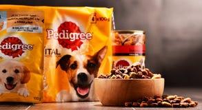 Les produits de pure race d'aliments pour animaux de compagnie de Mars ont incorporé Image stock