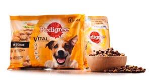 Les produits de pure race d'aliments pour animaux de compagnie de Mars ont incorporé Photos libres de droits