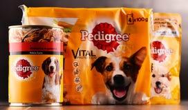 Les produits de pure race d'aliments pour animaux de compagnie de Mars ont incorporé Photos stock