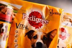 Les produits de pure race d'aliments pour animaux de compagnie de Mars ont incorporé Photographie stock