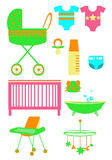Les produits des enfants Image stock
