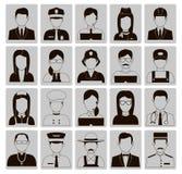Les professions dirigent les icônes plates Photographie stock
