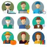 Les professions dirigent les icônes plates Photos libres de droits