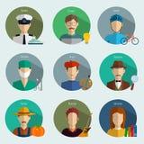 Les professions dirigent les icônes plates Image libre de droits