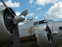 Les propulseurs du bombardier de la deuxième guerre mondiale B17 Photos stock