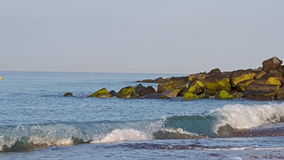 Les protections côtières Photographie stock
