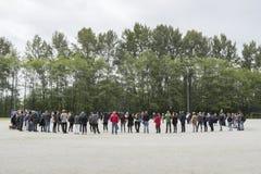 Les protestataires de Kinder Morgan se préparent à une protestation le 2 juin 2018 image stock