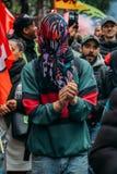 Les protestateurs expriment leur colère contre le gouvernement français du ` s du Président Macro, entre d'autres questions, sur  images stock