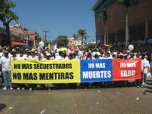 Les protestations de Barranquilla image libre de droits