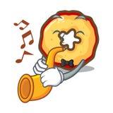 Les puces de pomme de trompette étant présenté sur des panneaux de caractère illustration de vecteur