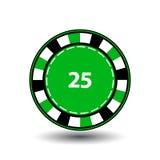 Les puces verdissent 25 pour le tisonnier une icône sur le fond d'isolement par blanc Illustration ENV 10 Pour employer les sites Image libre de droits