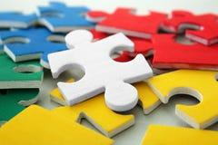 Les puzzles de couleur, se ferment  Photo libre de droits