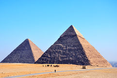 Les pyramides à Giza en Egypte photo stock