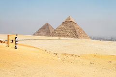 Les pyramides Photographie stock