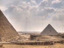 Les pyramides de Gizeh image stock