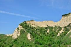 Les pyramides de sable de Melnik sont le phénomène naturel le plus fascinant Image stock