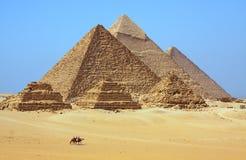 Les pyramides en Egypte Photographie stock
