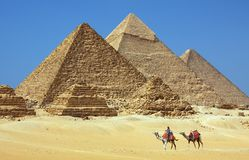Les pyramides en Egypte Photos stock